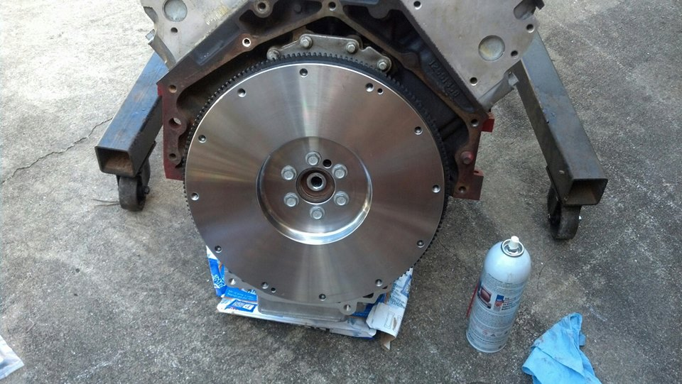 New flywheel attached